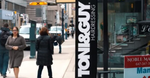 TONI&GUY outside the salon